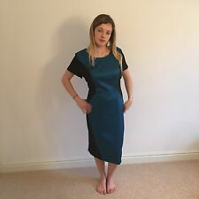 Collection London Womens Blue Teal Black Dress Ladies Party Dress Size 20