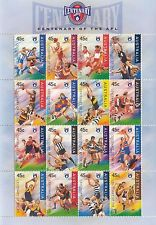Stamps Australia 1996 Australian Rules Football AFL mini sheet of 16 teams MUH