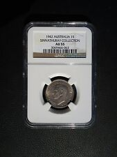 1942 Australia 1 One Shilling, NGC AU 55
