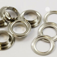 25 PLAIN STEEL EYELETS 12MM WITH WASHERS - CRAFTS LEATHER CRAFTS REPAIR CAE366