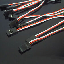 10pcs 10cm Servo Extension Lead Wire Cable Female TO Female For RC Futaba JR