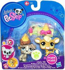 Littlest Pet Shop - Collector Pets - #1832 JACK RUSSELL TERRIER and #1833 COW