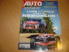 Auto hebdo N°1660 Gp de Hongrie.24H de Spa.WRC Finlande