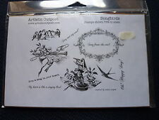 Artistic Outpost Rubber Stamp Set Songbirds. Song Bird, new