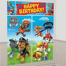 Paw Patrol Birthday Party Scene Setter Wall Decorating Kit Over 6 Feet Tall