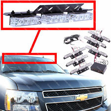 54 LED Emergency Vehicle Strobe Lights/Lightbars Deck Dash Grille -Amber & White