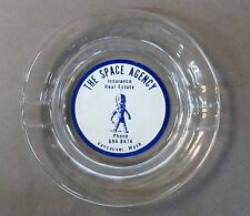 vintage THE SPACE AGENCY Real Estate Vancouver Wash. ashtray with ALIEN SPACEMAN