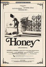 HONEY__Original 1981 Trade AD_poster_movie promo__CLIO GOLDSMITH__Miele di donna