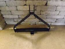 Three 3 Point Tractor Trailer Hitch Black CAT 1