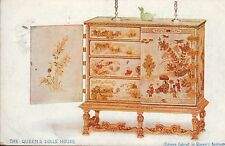 Queen's Dolls House, Chinese Cabinet, Tuck Oilette postcard, posted