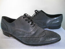 ACNE Men's Navy Blue Lace up Wing Tips Leather Shoes Italy Sz 12.5 RARE!