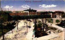 Augsburg Bayern alte AK ~1920 Partie Platz am Hauptbahnhof Bahnhof Station