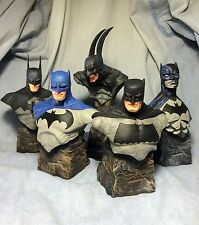 Ultra Rare Batman Bust statue set of 5 pcs Custom Nt prime 1 Sideshow Superman
