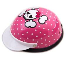 Dog's Helmet-Biker-Costume-Cuite Skull-PinkFor Small Pets 5-10 lbs Ship From USA