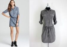 James Perse Cotton Drawstring Shirt dress size L / 4 $225