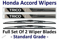 2003-2007 Honda Accord Wiper Blades Full Set of 2 Standard Wipers - 30260/30180