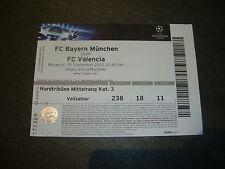 12/13 Eintrittskarte FC Bayern München - Valencia Spain Sammler Ticket EC