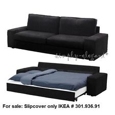 Ikea Cover for IKEA KIVIK Sofabed Sleeper Sofa Tranas Black Corduroy Slipcover