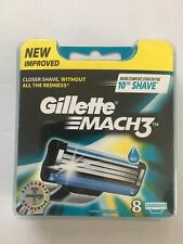 Gillette Mach3 Blades 8 Pack   NANO THIN BLADES NEW PLASTIC PACK