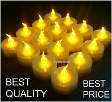 100 Pcs Flameless Tea Lights Battery Operated Flickering Candles Home Decor