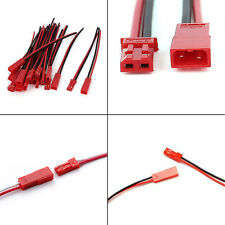 10 Pairs 22AWG Plug JST socket Connector Cable Wire Line 10cm Male Female Hot