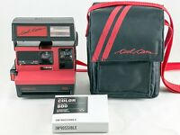 RARE Polaroid Cool Cam Red Black Instant Camera with Film & Matching Case TESTED