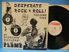 Desperate Rock N Roll Volume One V/A UK NM Import R&B Rockabilly Flame Records