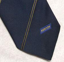 Norton Abrasives empresa Publicidad Corporativa Corbata Retro Vintage Años 80 90 Azul Marino