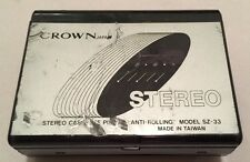 Vintage Crown Japan SZ-33 Portable Stereo Cassette Player Anti-Rolling