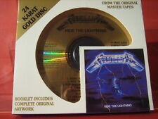 "DCC GZS-1136 METALLICA "" RIDE THE LIGHTNING "" (24 KT GOLD COMPACT DISC/SEALED)"