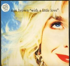 "SAM BROWN with a little love AMP 539 with poster uk a&m 1990 12"" VG/EX"