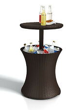Rattan Outdoor Patio Deck Pool Cool Bar Ice Cooler Table Furniture Brown Keter