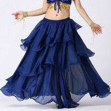 TMS Spiral Skirt Belly Dance 3 layer Circle Costume Gypsy Club HOT | 25 Colors