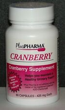 PlusPharma Cranberry Supplement 425mg Capsules (Compare to AZO Cranberry) 60ct