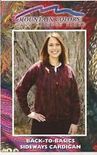 Mountain Colors Back-To-Basics Sideways Cardigan Sweater Knitting Pattern