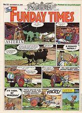FUNDAY TIMES NUMERO 11 (1989) RARE PERIODIQUE ANGLAIS AVEC ASTERIX A LA UNE
