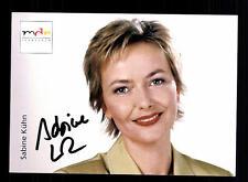 Sabine Kühn MDR Autogrammkarte Original Signiert # BC 64252