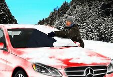 """Zone Tech Car Winter Snow Windshield Cover 4Shield 48""""x60"""" With 12"""" Flaps Pouch"""