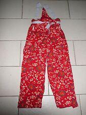Tolle warme Skihose / Schneehose Gr. 152 / 158 rot mit Blumenmustern !!