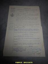 VIEUX PAPIERS EXTRAIT DES REGISTRES DES DELIBERATIONS DE LA VILLE DE MEZE 1922