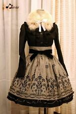 Gothic & Lolita HMHM Flocked Skirt. Steampunk