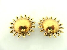 anciennes boucles d'oreille forme soleil signées ROSSI vintage french earrings