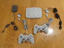 Sony PSOne PLAYSTATION Mini COMPLETE SYSTEM 2 Controllers TESTED Works AWESOME!