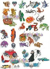 (35) Sorcery TATTOOS Frog Shark Creatures ~ Savvi Birthday PARTY Supplies FAVORS