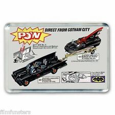 RETRO - TV21 COMIC BATMAN CORGI BATMOBILE BATBOAT ADVERT - JUMBO FRIDGE MAGNET