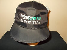 VTG-1990s Scan Air Q1 Dirt Team Nylon Rope Style snapback Yupoong retro hat