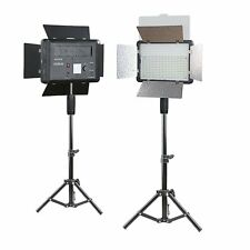 Godox 2X LED500 3300-5600K Video Light with Reflectors + 80cm Light Stands Kit
