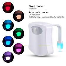Toiletten LED Stimmungslicht Badezimmer Nachtlicht Auto Sensor Motion Lamp 8Farb