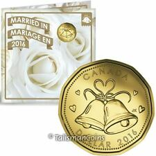 Canada 2016 Wedding 5 Coin Mint Gift Set with Special Wedding Bells $1 Loonie