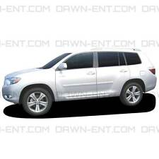 BODY SIDE Moldings PAINTED Trim Mouldings For: TOYOTA HIGHLANDER 2008-2013